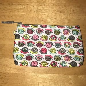 Small insulated zippered pouch